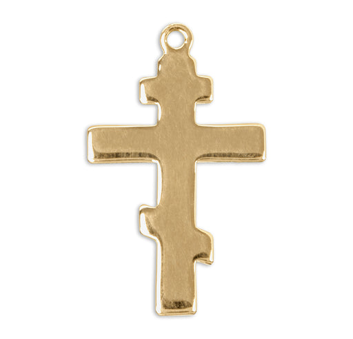 Gold Over Sterling Silver Byzantine Cross