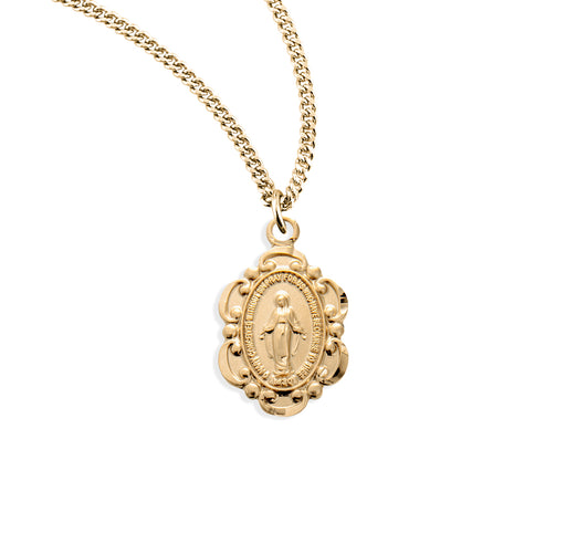 Miraculous Gold over Sterling Silver Baby Medal