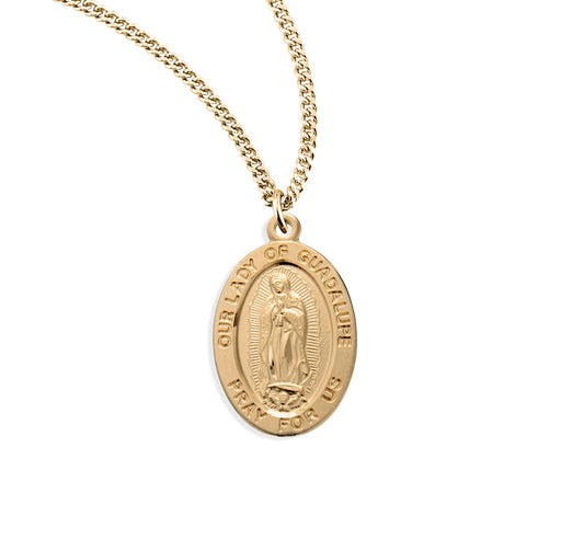 Our Lady of Guadalupe Gold Over Sterling Silver Medal