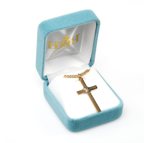 Tutone Gold Over Sterling Silver Cross