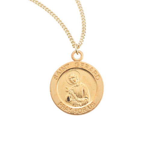 St. Gerard Gold over Sterling Silver Round Medal