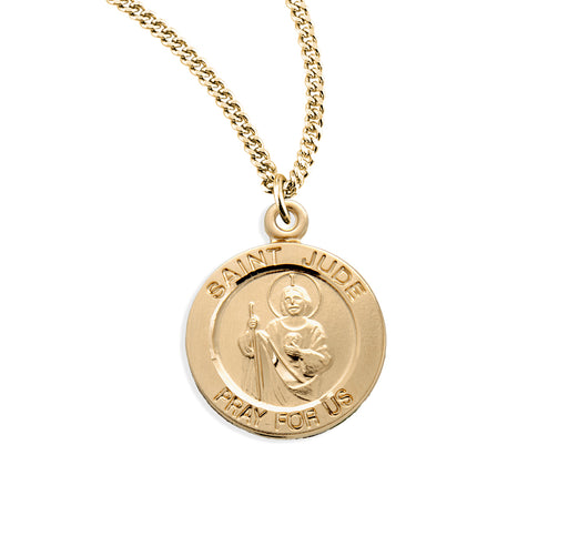 St. Jude Gold over Sterling Silver Round Medal