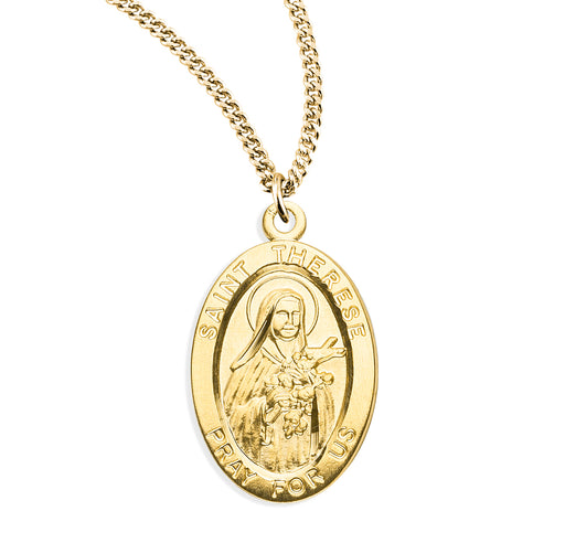 St. Therese of Lisieux Gold over Sterling Silver Medal