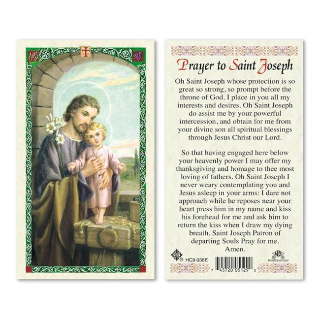 St. Joseph with Child Prayer Card