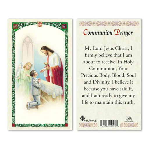 Boy First Communion Prayer Holy Card