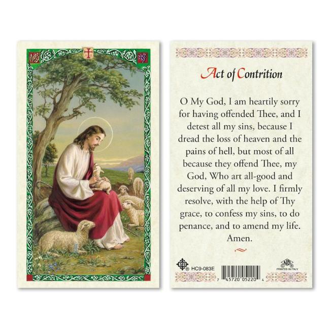 photograph regarding Act of Contrition Prayer Printable known as Act Of Contrition Prayer Card Cost-free Deliver $49+ Catholic On the internet Purchasing