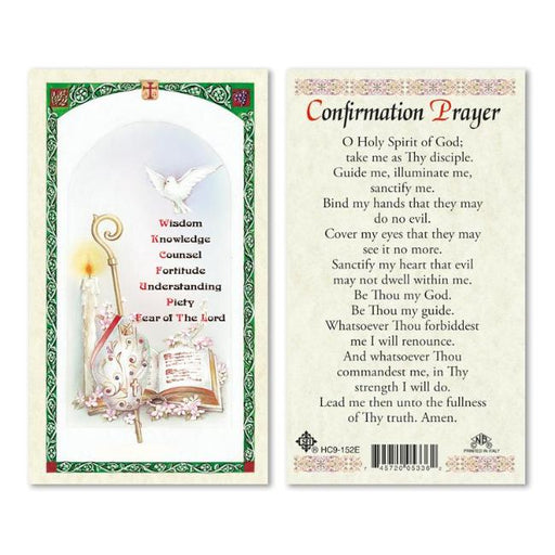 Confirmation Prayer Holy Card