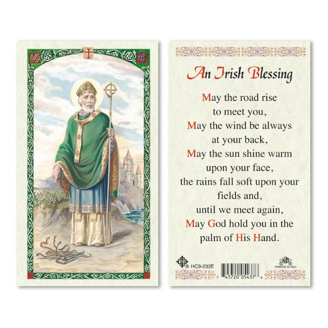 St. Patrick Irish Blessing Prayer Card