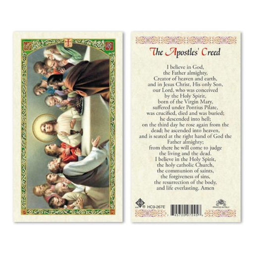 Apostles' Creed Laminated Holy Card