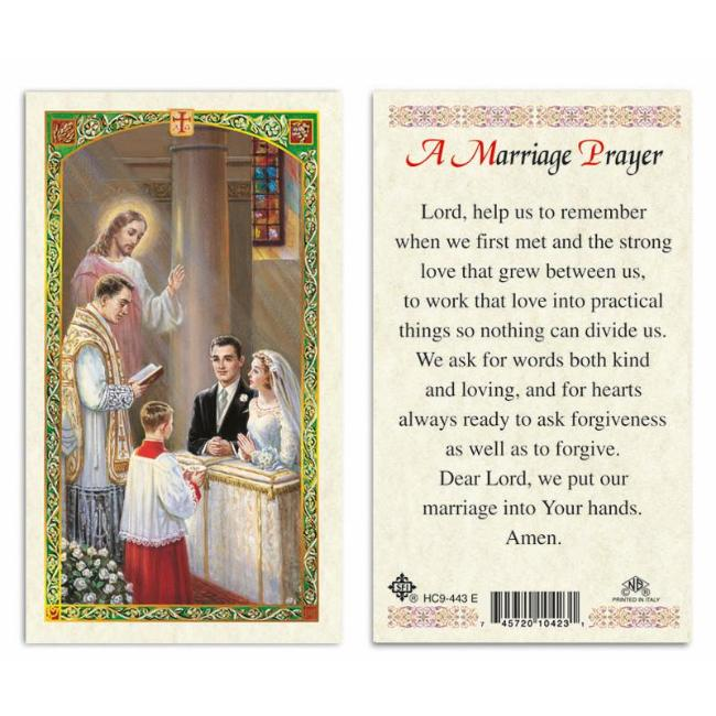 A Marriage Prayer Holy Card