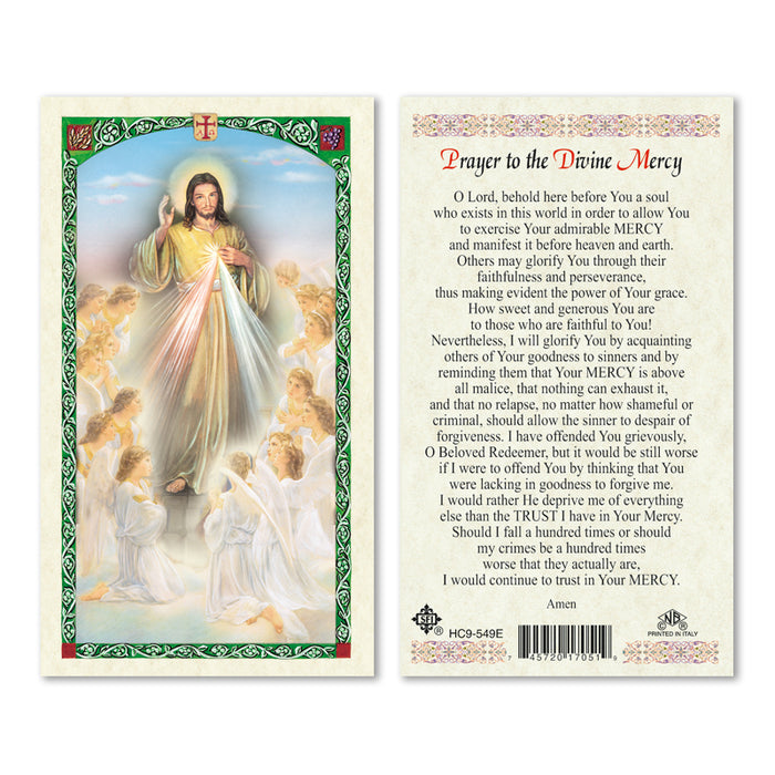 Prayer to the Divine Mercy Holy Card