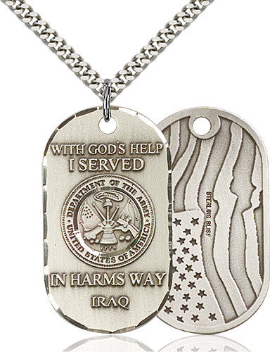 Image of Army Iraq Pendant (Sterling Silver)