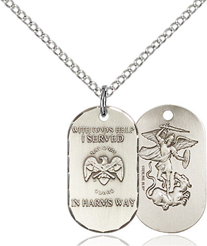 Image of National Guard Pendant (Sterling Silver)