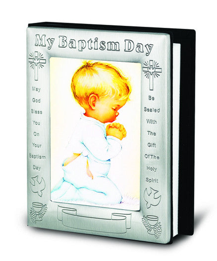 Image of PRAYING BOY PICTURE IN PEWTER