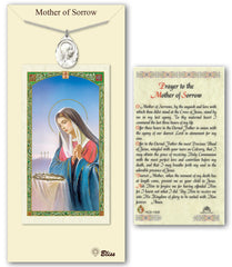 Image Of Sorrowful Mother Pendant Prayer Card