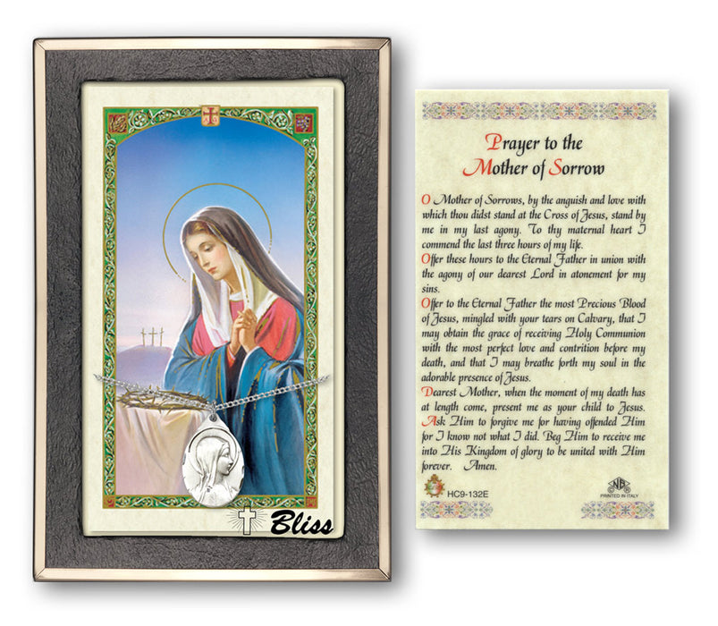 Sorrowful Mother Pendant / Prayer Card