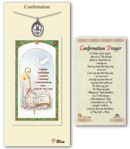 Image of Confirmation Pewter Prayer Card