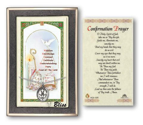 Image of Confirmation Silver Filled Prayer Card