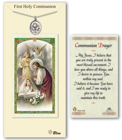 Image of Chalice Pewter Prayer Card