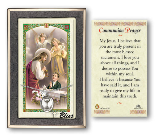 First Holy Communion Boys Pendant / Prayer Card