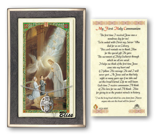 5-Way Chalice Pendant / First Communion Prayer Card