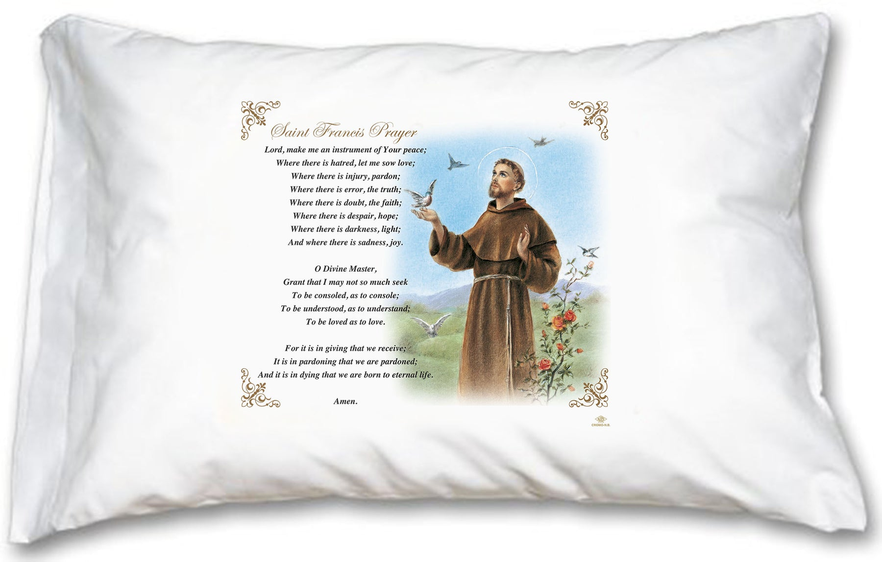 St. Francis Pillow Case - English Prayer
