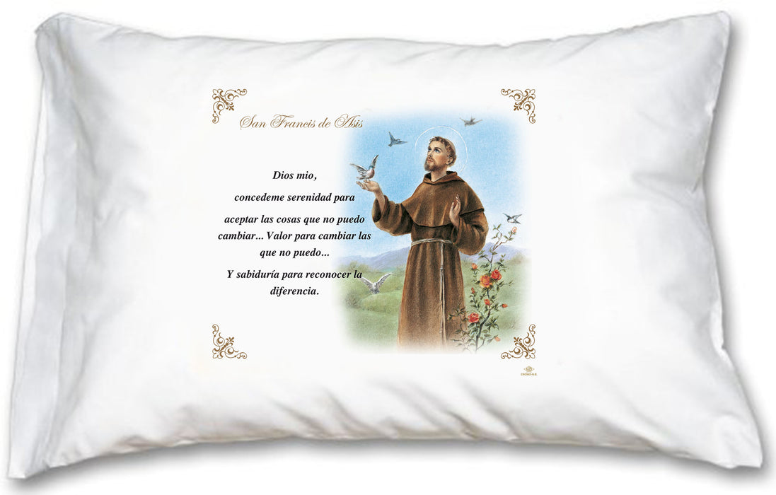 St. Francis Pillow Case - Spanish Prayer - ONLY 8 LEFT