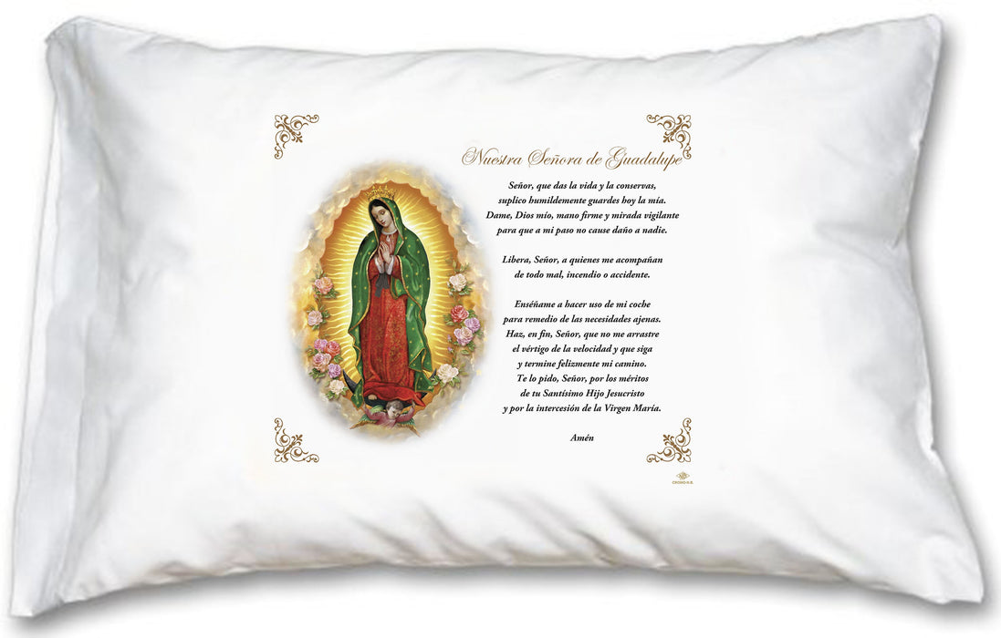 Our Lady of Guadalupe Pillow Case - Spanish Prayer