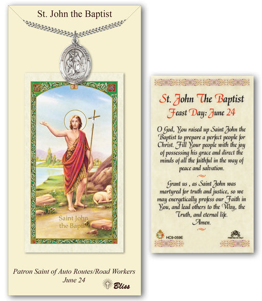 St. John the Baptist Pendant / Prayer Card