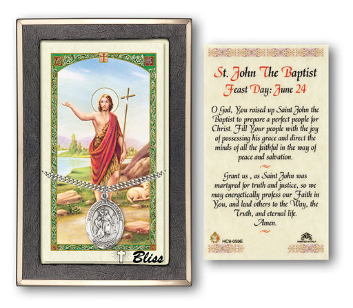 Image of St. John the Baptist Silver Filled Prayer Card