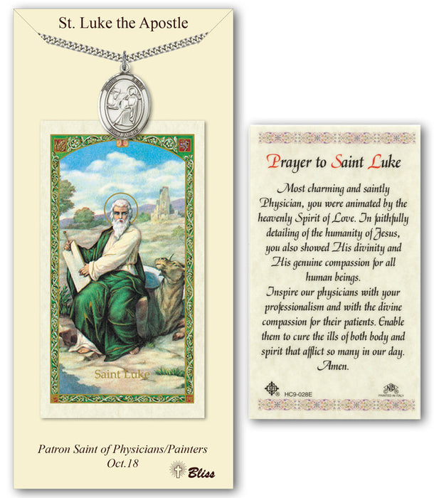 St. Luke the Apostle Pendant / Prayer Card