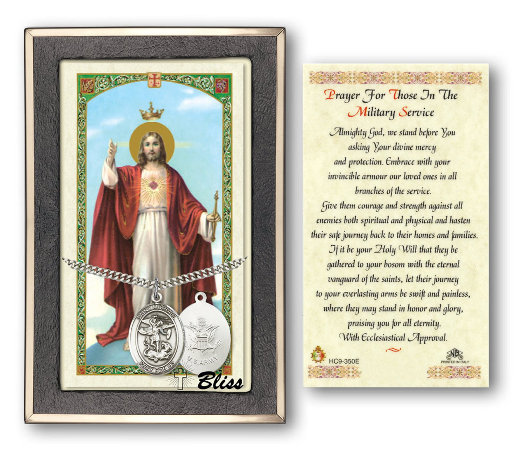 St. Michael the Archangel Pendant / Prayer Card (Army)