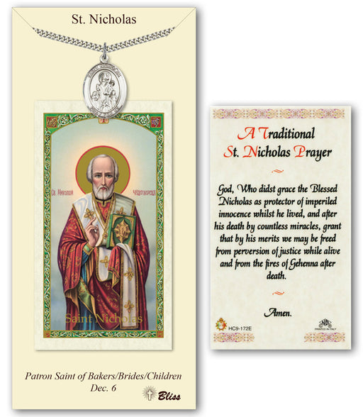 St. Nicholas Pendant / Prayer Card