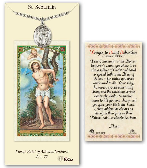 St. Sebastian Pendant / Prayer Card