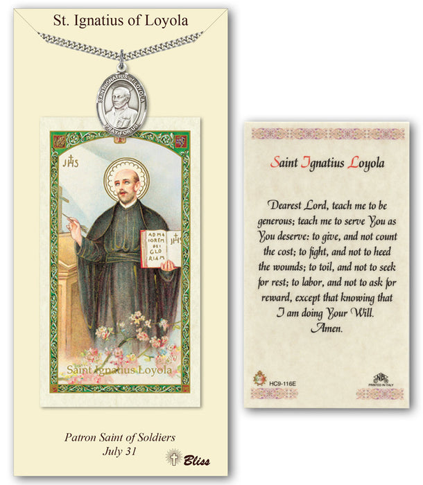 St. Ignatius of Loyola Pendant / Prayer Card