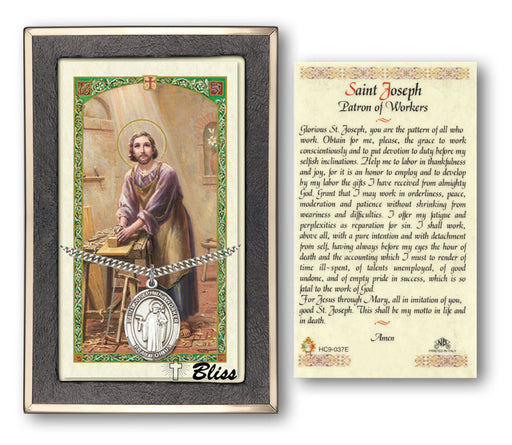 St. Joseph the Worker Pendant / Prayer Card
