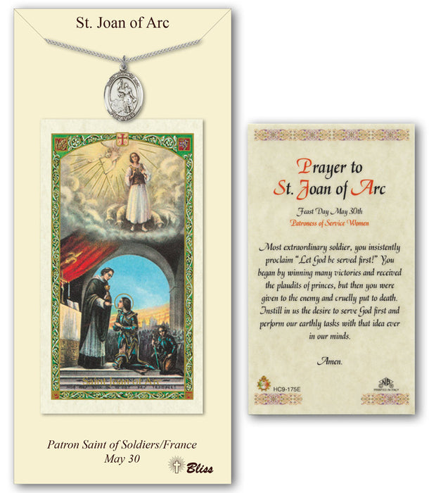 St. Joan of Arc Pendant / Prayer Card