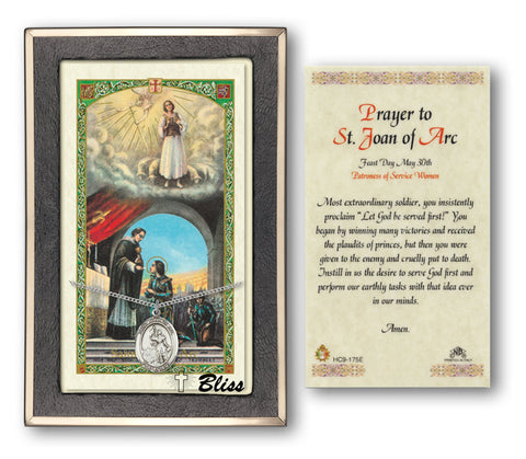 Image of St. Joan of Arc Silver Filled Prayer Card