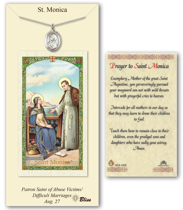 picture regarding St Nicholas Prayer Printable named St. Monica Pendant / Prayer Card Cost-free Send out $49+ Catholic On the web Searching