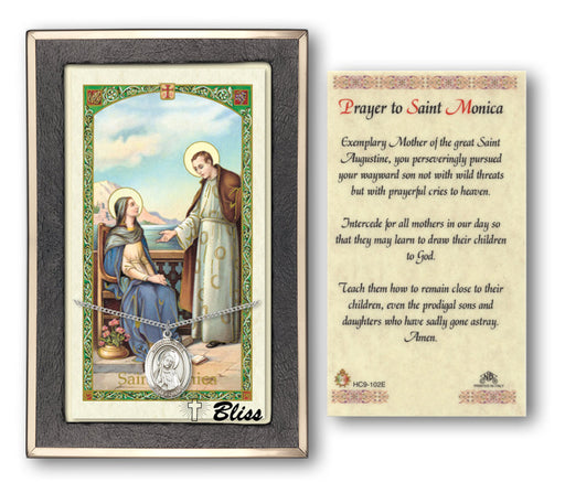 St. Monica Pendant / Prayer Card