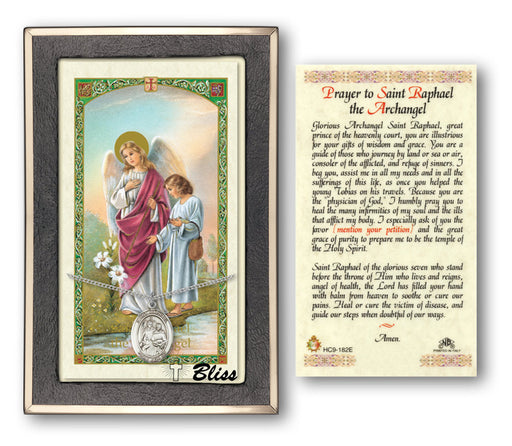 St. Raphael the Archangel Pendant / Prayer Card