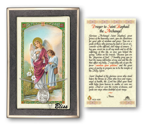 Image of St. Raphael the Archangel Silver Filled Prayer Card