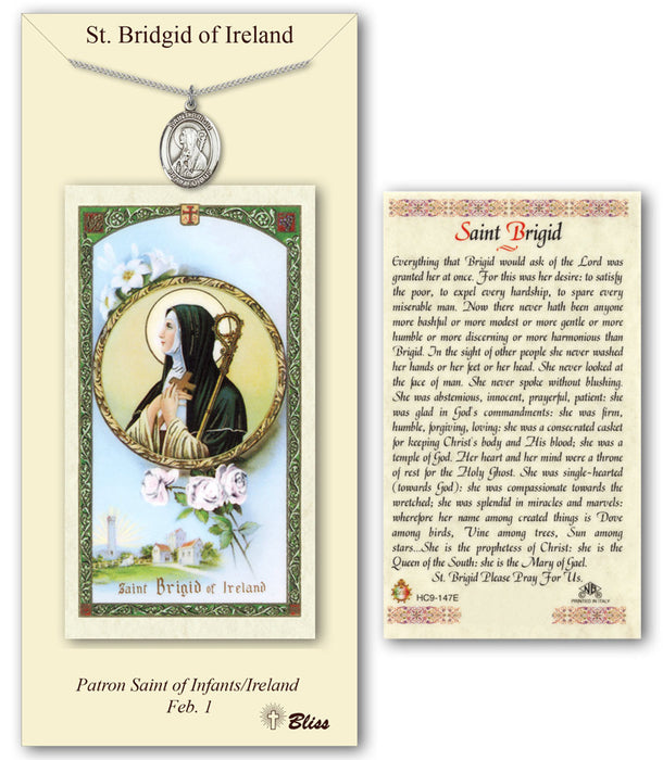 St. Brigid of Ireland Pendant / Prayer Card