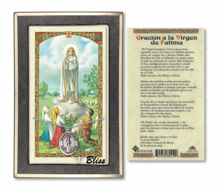 Virgen de Fatima Pendant / Prayer Card (Spanish)