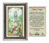 Our Lady of Fatima Pendant / Prayer Card