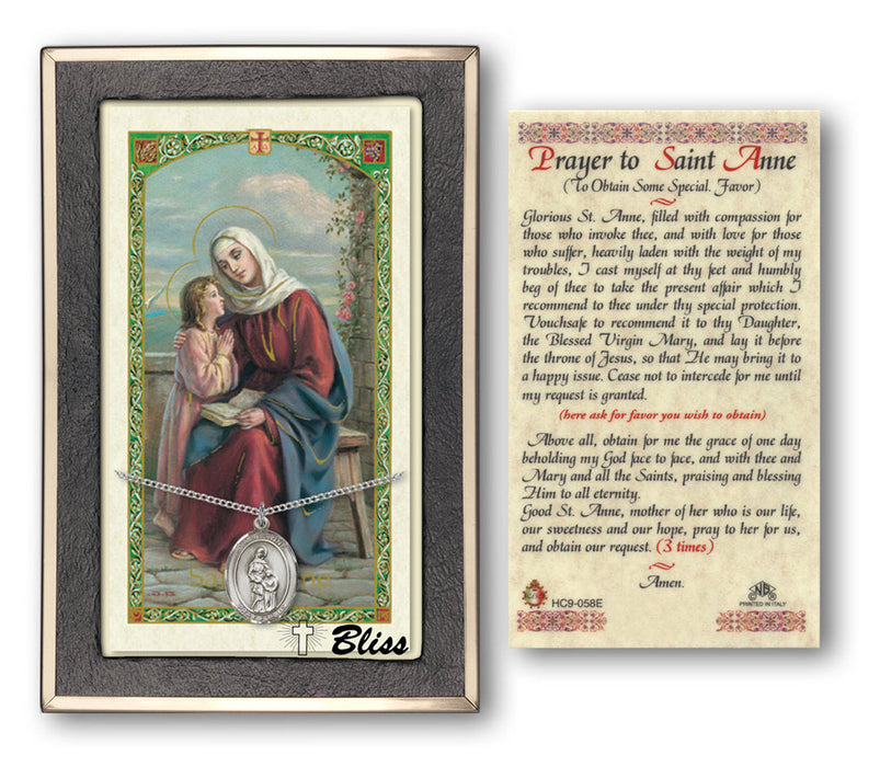 St. Anne Pendant / Prayer Card