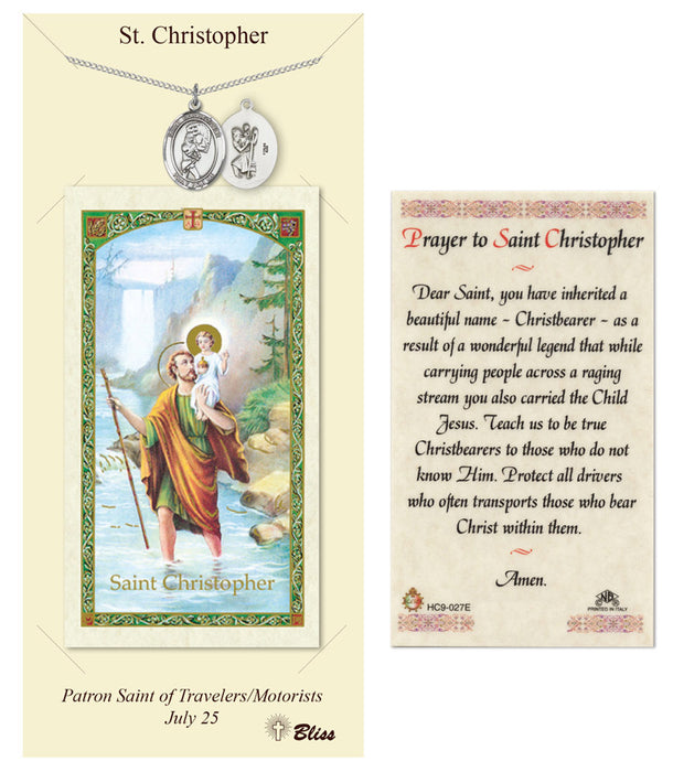 St. Christopher Pendant / Prayer Card (Softball)