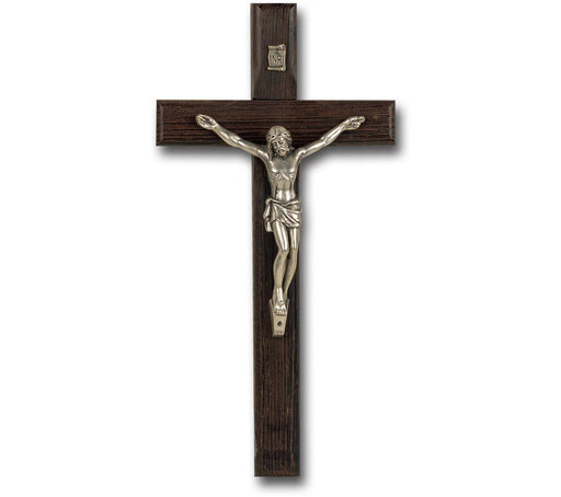 "Palissander Wood Wall Cross & Crucifix 8""/10"""