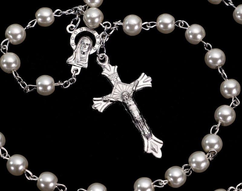 Pearl Ivory Rosary