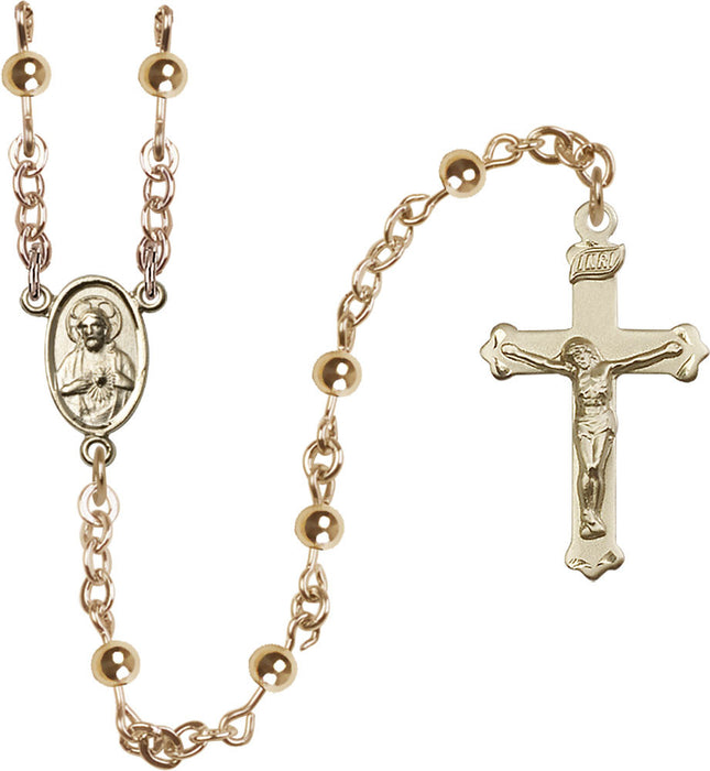 14Kt Gold Filled Mother of Pearl Rosary